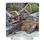 Storm Debris Shower Curtain