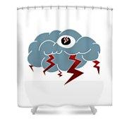 Storm Eye Shower Curtain