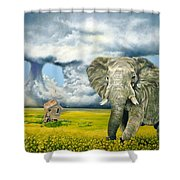 Storm Field Shower Curtain