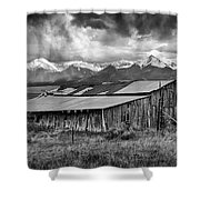 Storm In B And W Shower Curtain