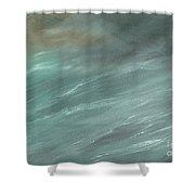 Storm In Deep Ocean Shower Curtain