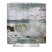 Storm In Niagara Falls  Shower Curtain