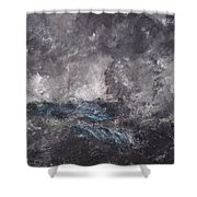 Storm In The Skerries. The Flying Dutchman Shower Curtain