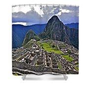 Storm Inbound To Machu Picchu Shower Curtain
