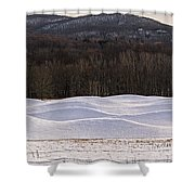 Storm King Wavefield In Snowy Dress Shower Curtain