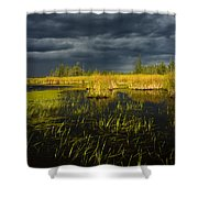 Storm Light At Patten Lake #1 Shower Curtain