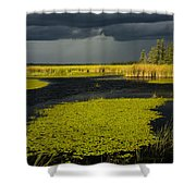 Storm Light At Patten Lake #2 Shower Curtain