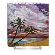 Storm Of Contrast Shower Curtain