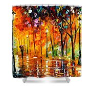 Storm Of Emotions - Palette Knife Oil Painting On Canvas By Leonid Afremov Shower Curtain