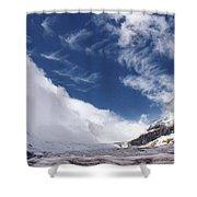 Storm On A Glacier Shower Curtain