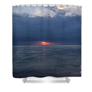 Storm On Fire  Shower Curtain