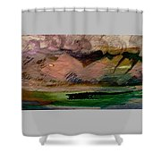 Storm On The Mountain Shower Curtain