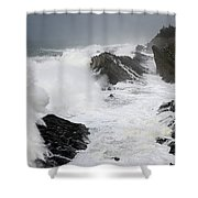 Storm On The Oregon Coast 2 Shower Curtain