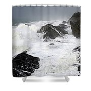 Storm On The Oregon Coast Shower Curtain