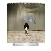 Storm On The Plains Shower Curtain