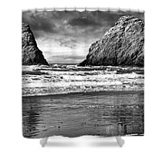 Storm On The Rocks Shower Curtain