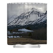 Storm On The Rocky Mountain Front Shower Curtain