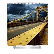 Storm Over Bridge Shower Curtain