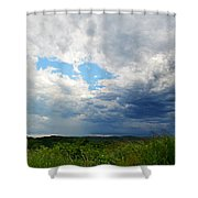 Storm Over Foothills Shower Curtain