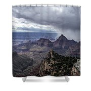 Storm Over Grand Canyon Shower Curtain