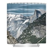 Storm Over Half Dome Shower Curtain