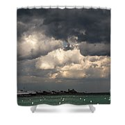 Storm Over Lake Michigan Shower Curtain