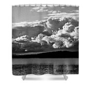Storm Over Lake Placid Shower Curtain