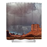 Storm Over Monument Valley Shower Curtain by Wesley Aston