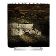 Storm Over Old Country House Shower Curtain