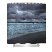 Storm Over Point Moore Shower Curtain