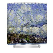 Storm Over Shore Shower Curtain