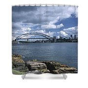 Storm Over Sydney Harbor Shower Curtain