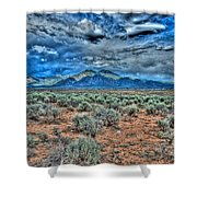 Storm Over Taos Mountain Shower Curtain