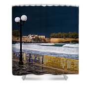Storm Over The Aegean Shower Curtain