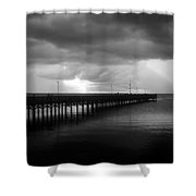 Storm Over The Anclote Shower Curtain