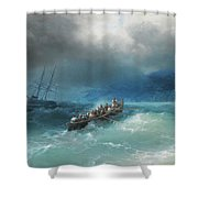 Storm Over The Black Sea Shower Curtain