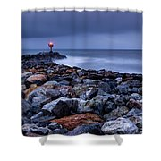 Storm Over The Jetty 2 Shower Curtain