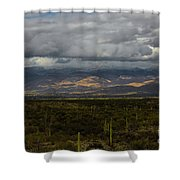Storm Over The Mountains Of Arizona Shower Curtain