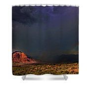 Storm Rainbow Back Of Zion National Park Utah Shower Curtain