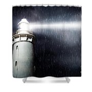 Storm Searchlight Shower Curtain