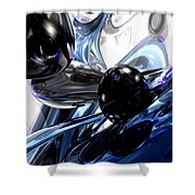 Storm Shadow Abstract Shower Curtain