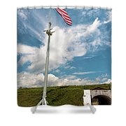 Storm The Hill Shower Curtain