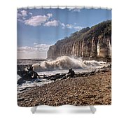 Storm Tide Cliffs End Shower Curtain