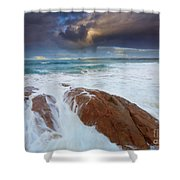 Storm Tides Shower Curtain
