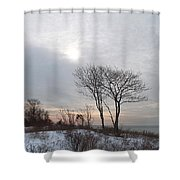 Storm Trilogy--three Harkness Memorial State Park Shower Curtain