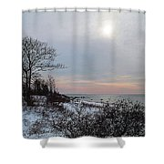 Storm Trilogy-one Harkness Memorial State Park Shower Curtain