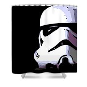 Storm Trooper In Black And White Shower Curtain