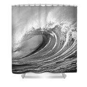 Storm Wave - Bw Shower Curtain