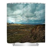 Storms And Cliffs Shower Curtain