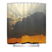 Storms Building At Sunset Shower Curtain